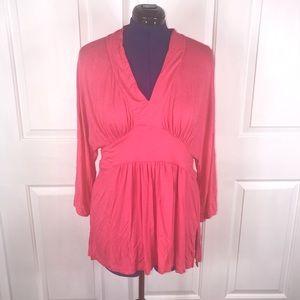 Melissa McCarthy Tops - NWT Melissa McCarthy seven7 0X pink retro top